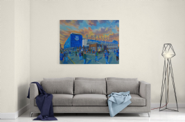 goodison park going to the match canvas a2size